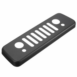 MyXL Achter Zwart Aluminium Grille Derde Stop Lamp Remlicht Lam Cover Trim Sticker Voor Jeep/Wrangler JK 2007-