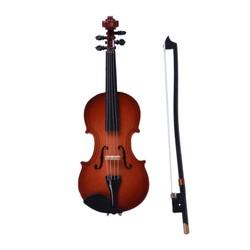 MyXL Mini Viool Met Ondersteuning Miniatuur Houten Muziekinstrumenten Collection Decoratieve Ornamenten Model Decoratie Geschenken