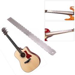 MyXL 1 Stks Gitaar Toets Heerser Zilveren Rvs Gitaar Hals Notched Rechte Rand Luthiers Tool Guitarra Accessoires