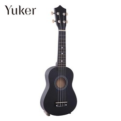 """MyXL Yuker 21 """"Mini Professionele Zwarte Vintage Akoestische Sopraan Gitaar Ukulele Muziekinstrument Voor School Muziek Learner"""