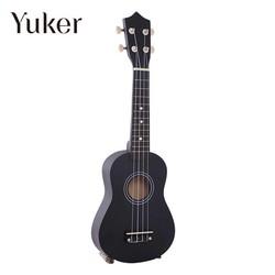 MyXL Yuker 21 Inch Mini Professionele Zwarte Vintage Akoestische Sopraan Gitaar Ukulele Muziekinstrument Voor School Muziek Leerling