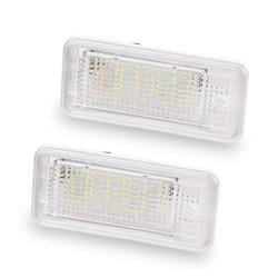 MyXL 2 STKS Kenteken Plaat Licht 12 V SMD3528 Led Kentekenverlichting Lamp Voor Audi A4 A3 S3 S4 B6 B7 A6 C6 S6 A8 S8 RS4 RS6 Q7