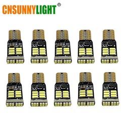 MyXL CNSUNNYLIGHT 10x T10 4014 LED 12 V W5W led Auto Lampen 168 194 Turn Side Kentekenverlichting Parkeer Mistlamp klaring licht