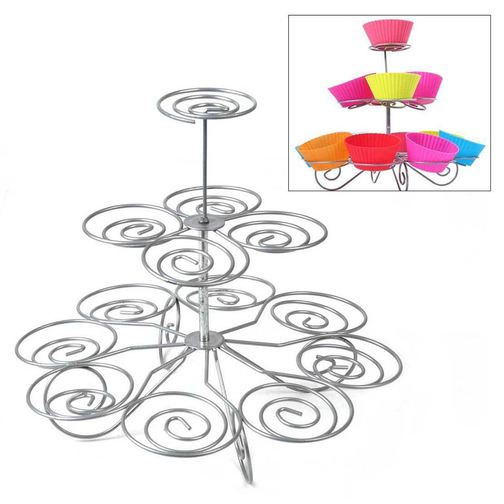 Collectie Afneembare 3 Tier 13 Cupcake Stand Party Decoratie Dessert Houder Wedding Decorating Geree