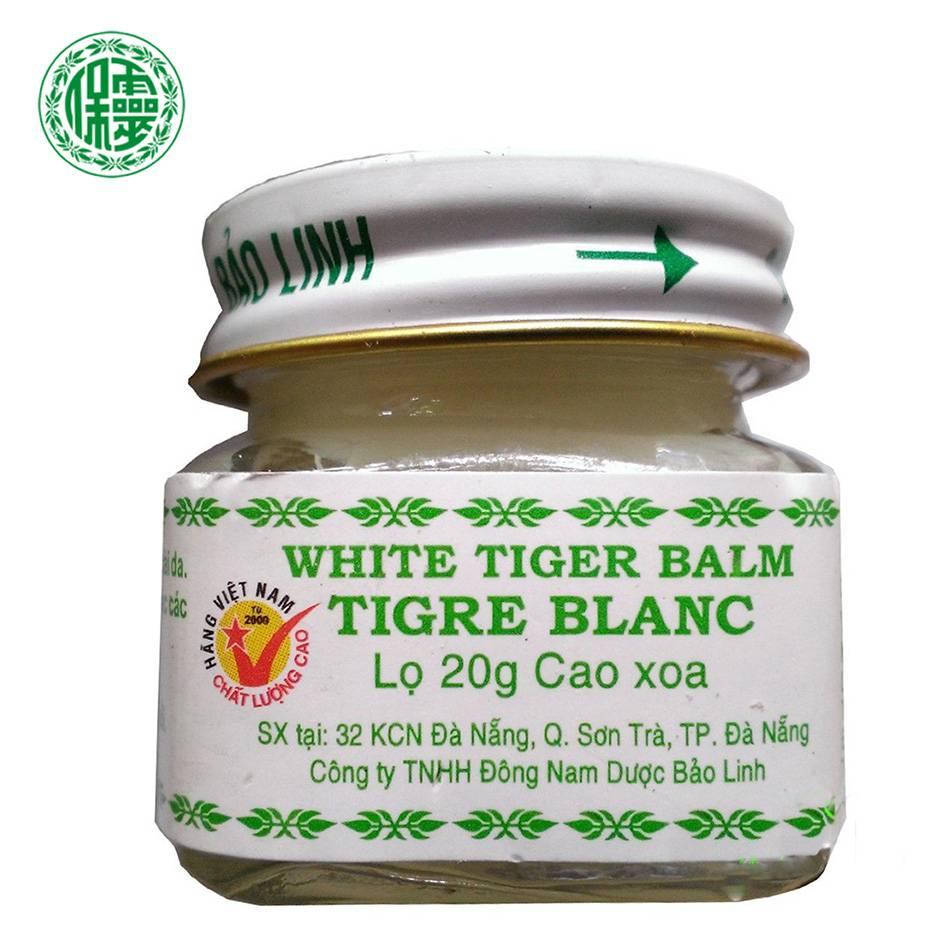 20g Baolinnatural Original White Vietnam Tiger Balm Oil Natural Herb Balsem Transdermic Anelgesic Cream For Headache