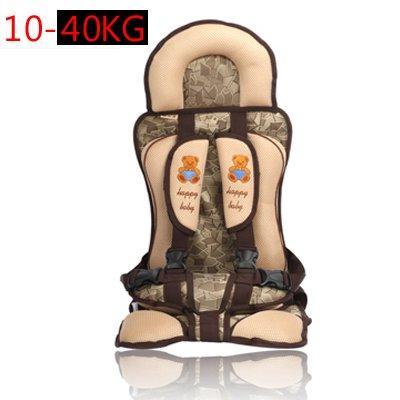 Kind Autozitjes 3-12 Jaar-Beer Stijl Baby-autozitje Draagbare & Comfortabele Baby Baby Autostoeltje