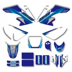 MyXL Stijl TEAM GRAFISCHE & ACHTERGRONDEN DECAL STICKERS Kits Voor HONDA CRF50 CRF50F 2004-2012 (Blauw/Wit)