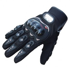 MyXL AUTO PRO BIKER 1 Paar Rock Zwart Korte Sport Lederen Motorrijwiel Zomer Handschoenen