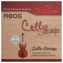MyXL ALICE A806 Algemene Cello Strings met Stranded Steel Core en Nikkel Chroom Wound/Cello Accessoires