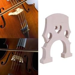 MyXL Exquisite Cello Bridge 4/4 3/4 Top Kwaliteit Streep Esdoornhout Professionele Esdoornhout Cello Contrabas Brug Accessoires