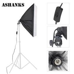 MyXL ASHNAKS Fotostudio Softbox Fotoapparatuur Tent 50x70 cm met Enkele Lamp Houder Voor Fotografica E27 Continue Verlichting