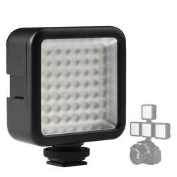 MyXL Ulanzi Ultra Heldere 49 LED Video Light met 3 Flitsschoen dimbare Draagbare High Power Panel Video Light voor Canon Nikon Smartphone