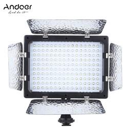 MyXL Andoer W160 Led Video Licht 6000 K 160 LEDs Camera licht voor Canon Nikon Pentax Sony (Alpha) Olympus Fujifilm DSLR DV Camcorder