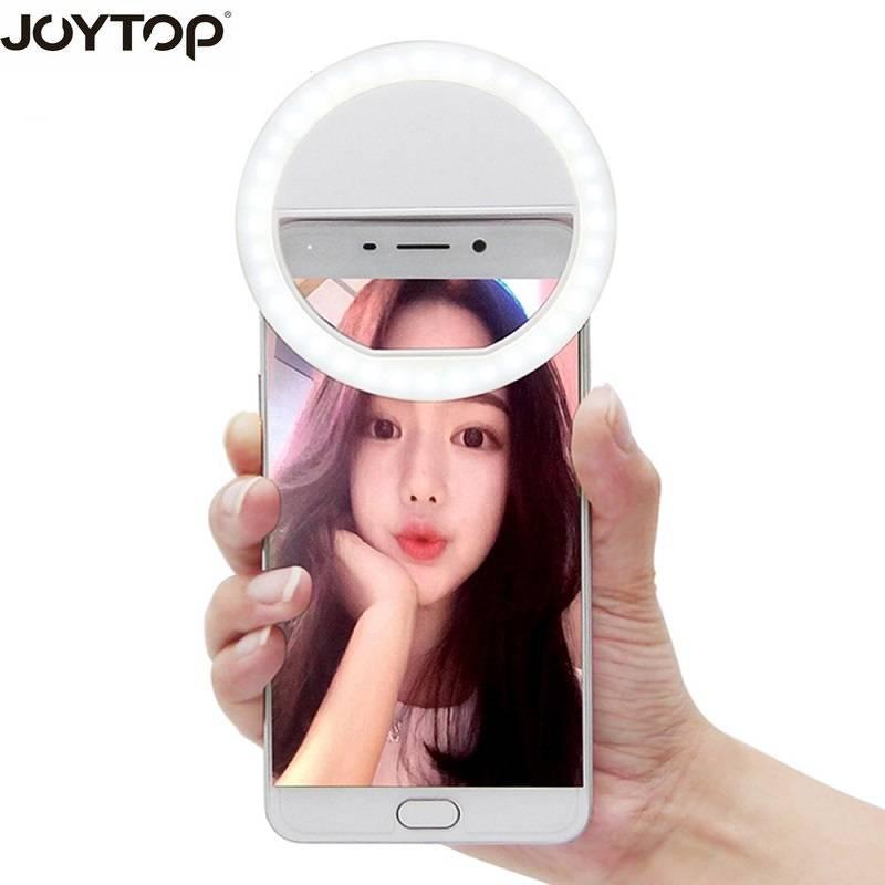 JOYTOP 36 LED Draagbare Selfie Flash Led Camera Clip-op Mobiele telefoon Selfie ring licht video Nig
