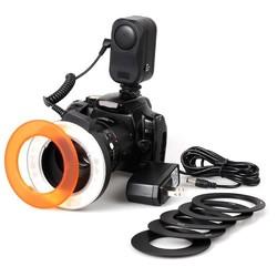 MyXL W48 LED Macro Ring Flash Voor Canon 60D 7D 6D 5D Mark II 5D3 70D 600D 650D 550D, Nikon D800 D600 D7100 D5100 D5200 D90