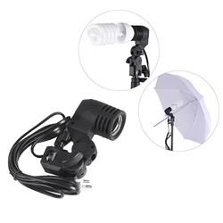 MyXL E27 Lamp Holder Socket Flash Swivel Beugel Foto Licht Lamp Mount EU Plug