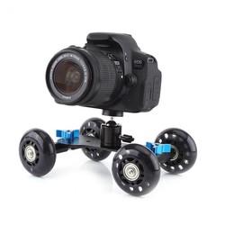 MyXL Universele 4 Wiel Desktop Vedio Spoor Slider Dolly Auto voor DSLR Camera Camcorder Sport Actie Camera
