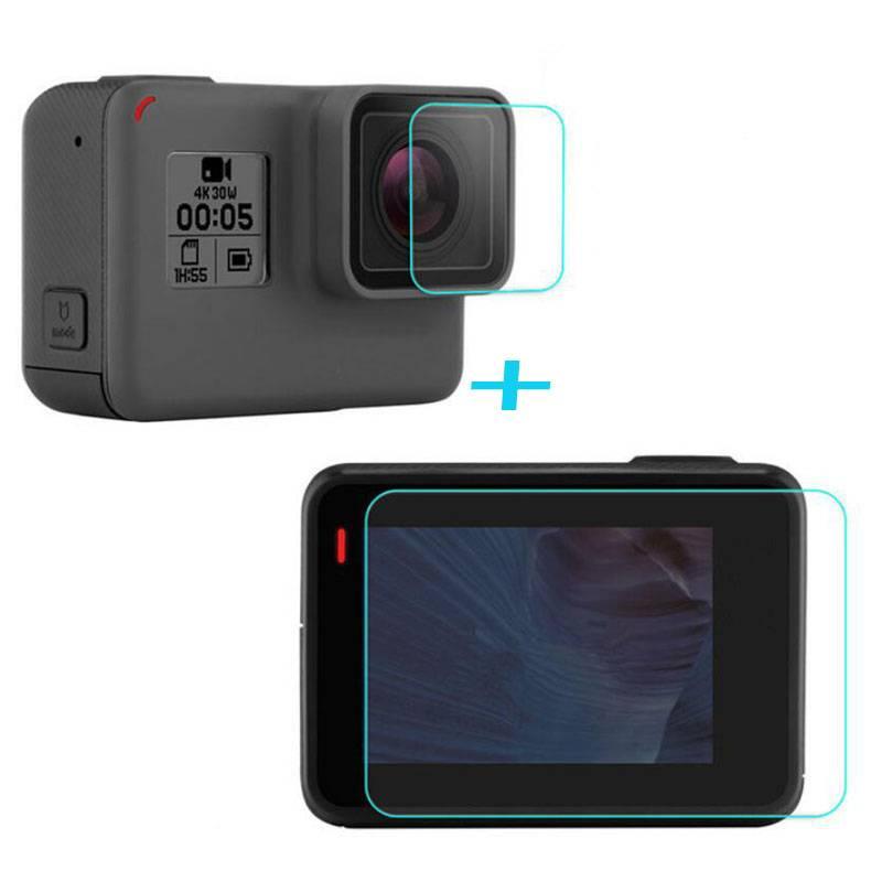 Gehard Glas Protector Beschermhoes Voor GoPro Gaan pro Hero5 Hero6 Hero 5-6 Zwart Front Camera Lens