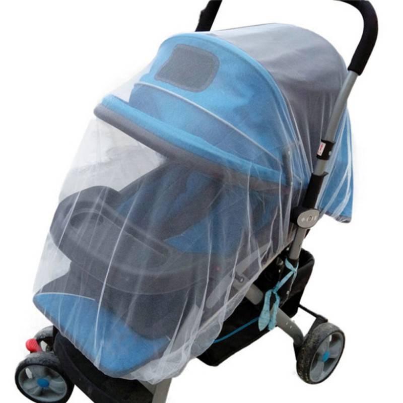 1 St Wit Zuigelingen Kinderwagen Wandelwagen Mosquito Insect Net Veilig Mesh Buggy Crib Netting Wink