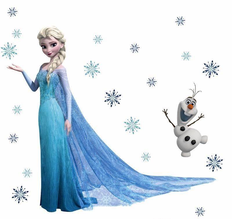 Elsa Snowflaks Olaf Muursticker Decals voor Kids Kind Nursery Mural