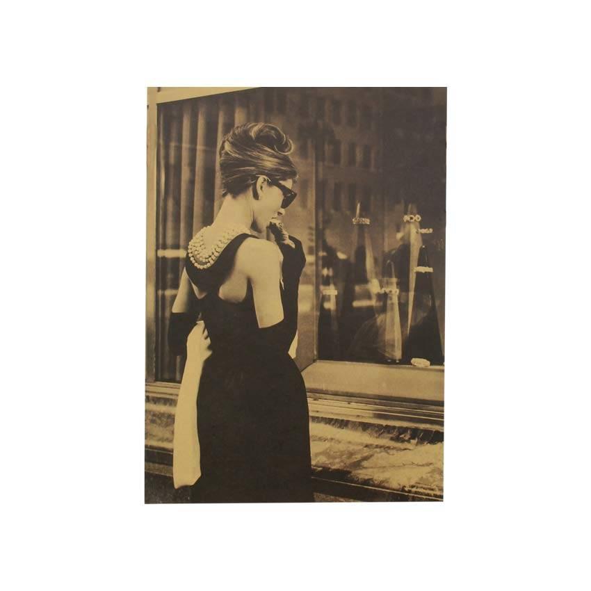 TIE LER Audrey Hepburn Vintage Poster Versiering Muurstickers Retro Kraftpapier Versiering Film Post