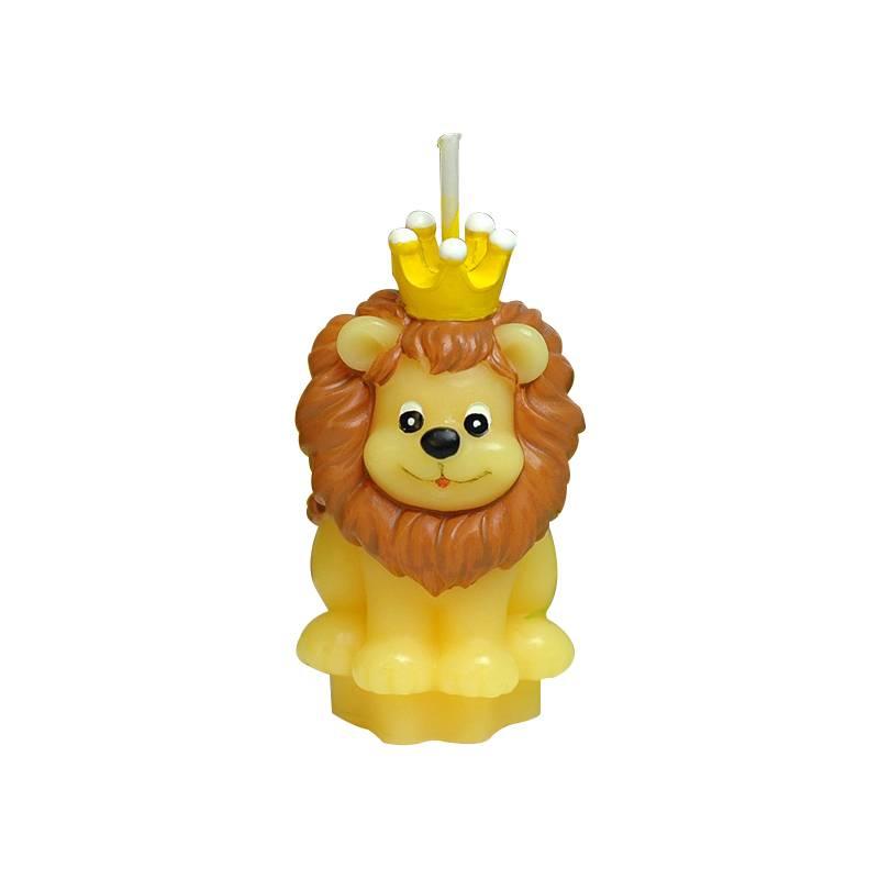 Koning Leeuw Vorm Art Cake Kaars voor Kinderen Verjaardag Nachtlampje Mini Mooie Leeuw Kaarsen Weddi