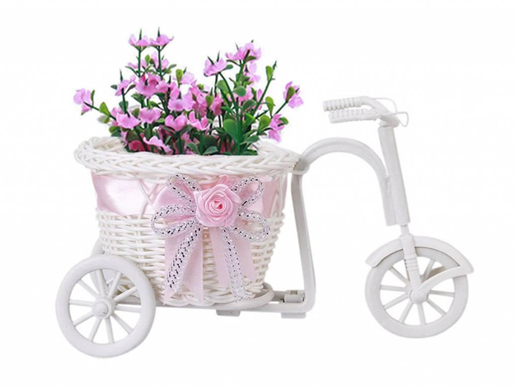 Handgemaakte Driewieler-Fiets Bloemenmand voor bloemenvaas pot en Opslag Decoratie