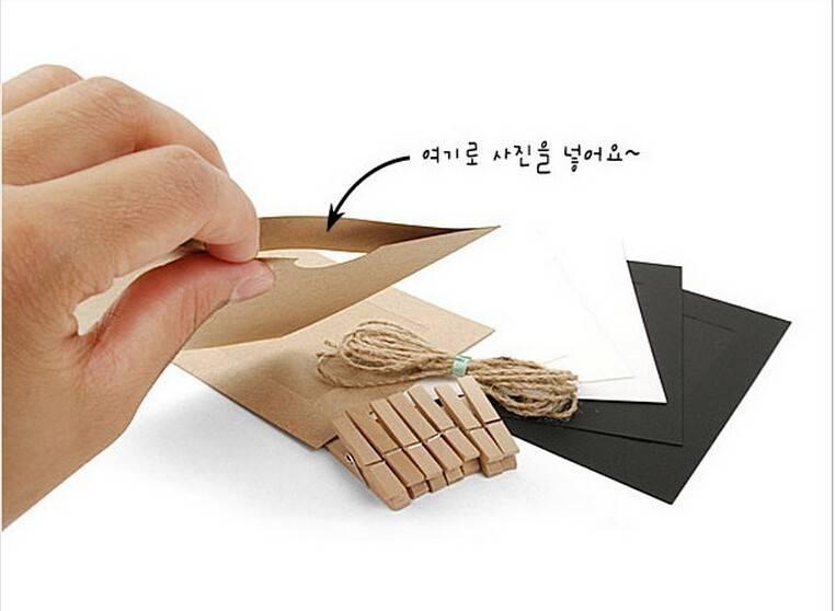 DIY 5x7 inch papier opknoping fotolijsten muur fotolijst voor huisdecoratie, 7 stks-set, inclusief v