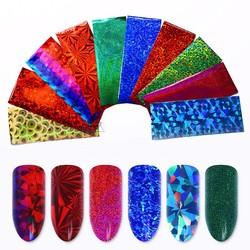 MyXL 50 Stks Shimmer Sterrenhemel Nail Folie 4*20 cm Kleurrijke Nail Glitter Transfer Sticker Manicure Nail Decoratie Willekeurige patroon