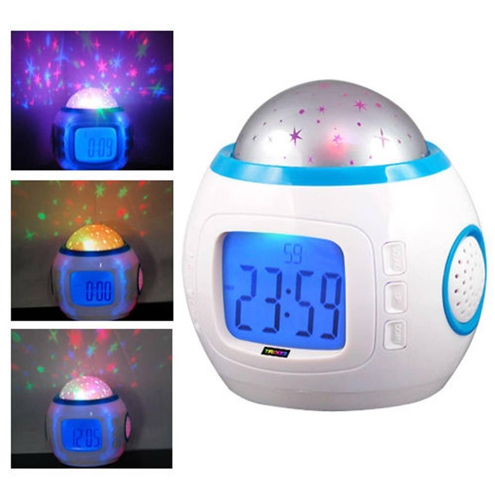 Kleurrijke Star Kinderkamer Nachtlampje Projector Lamp Wekker slapen muziek