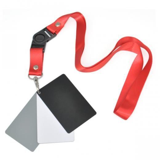 3 in 1 Pocket Size Digitale Camera Wit Zwart Grijs Balance Blootstelling Kaarten met Nekband voor Di