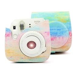 MyXL Fujifilm Instax Mini 9 8 8 + Camera Accessoire Kunstenaar Olie verf PU Lederen Instant Camera Schoudertas Protector Cover Case Pouch