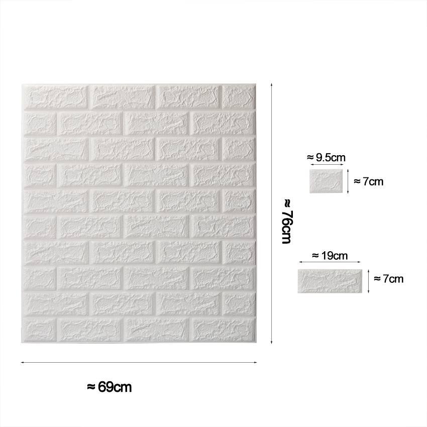 PE Foam 3D Muurstickers Home Decor DIY Muur Decor Baksteen Woonkamer Kids Slaapkamer Decoratieve Sti