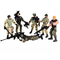 MyXL 6 stks Amerikaanse Privates Moderne Speelgoed Soldaten Modellen Met Joint Beweegbare Met Wapens