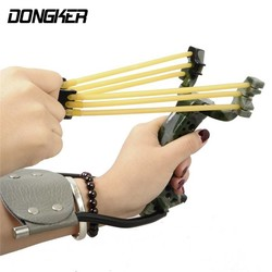 MyXL DONGKER Krachtige Hunting SlingsCatapult Met Rubber Band Catapult Tactische Plastic Pocket Sling SBoog Sling SSet