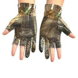 MyXL 1 Paar Anti Slip Elastische Vissen Handschoenen skid Antislip Vingerloze Jacht Vissen Kamp Gel Handschoen Camouflage Comfortabele Ne