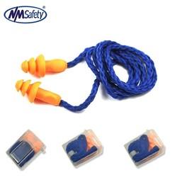 MyXL 2 Paar Zachte Siliconen Snoer Oordoppen Herbruikbare Gehoorbescherming Ruisonderdrukking Oordopjes Beschermende oorbeschermers <br />  nmsafety