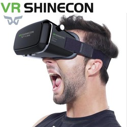 MyXL Vr shinecon pro virtual reality 3d bril headset hoofd mount mobiele google kartonnen video voor 4-6 &#039;smartphone 13000001 <br />  VR SHINECON