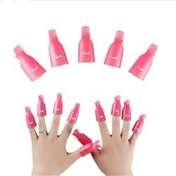 MyXL Hoge kwaliteit10 ST Plastic Nail Art Losweken Cap Clip UV Gel Polish Remover Wrap Tool <br />  CCBLING