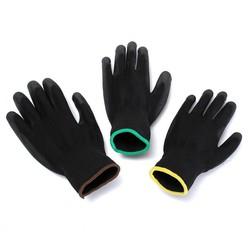 MyXL Collectie 12 Pairs Zwart Nylon PU Veiligheid Werk Handschoenen Bouwers Grip Voor Palm Coating Handschoenen <br />  Safurance