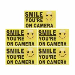 MyXL 5x Glimlach je Op Camera Zelf garenloos CCTV Video Alarm Veiligheid Stickers Borden Decal Home Security Waarschuwing <br />  Safurance
