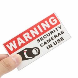 MyXL 8 Stks BEWAKINGSCAMERA IN GEBRUIK Waterdicht Zelf garenloos Waarschuwing Stickers Veiligheid Borden Decal <br />  MyXL