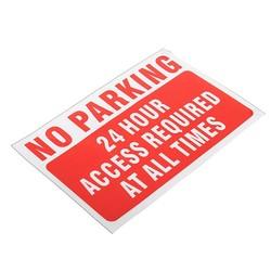 MyXL Waterdicht GEEN Parking Op Elke Time Waarschuwing Teken Vinyloverdrukplaatjesticker Rode Veiligheid En Bescherming Duurzaam Kwaliteit <br />  Safurance