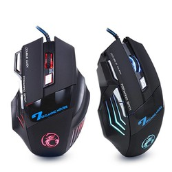 MyXL Professionele Bedrade Gaming Muis 7 Knop 5500 DPI LED Optische USB Computer Muis Gamer Muizen X7 <br />  iMice
