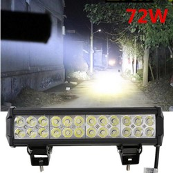 MyXL 1 st 12 inch 5700LM 72 W Led-lichtbalk offroad Truck Trailer 4x4 4WD SUV ATV Off Road spot werklamp Lamp flood Spot combo Beam <br />  GERUITE