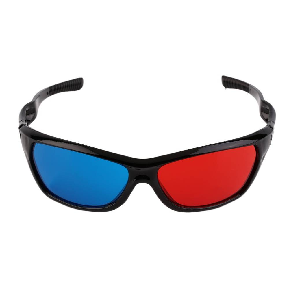 Universele Plastic Bril Zwart Frame Rood Blauw 3D Visoin Glas Voor Dimensional Anaglyph Movie Game D