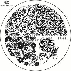 MyXL Nail Stempelen Platen BP-83 Bloem Water Knikkers Nail Art Stamp Template Leaf Afbeelding Stempel Plaat GEBOREN PRETTY BP83 #23266 <br />  Born Pretty