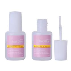 MyXL 1 Stks 10g Valse Lijm Nail Art Tips Glitter Acryl decoratie met Borstel Valse Nail Gel Lijm Nep Nagels Nail Label <br />  Beau Gel