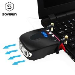 MyXL Vrijdragende Laptop Cooling Vacuüm Fan Externe USB Stille Ijs Notebook Koeler Digitale Display Verstelbare Smart Model Cooler <br />  popu·pine