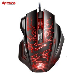 MyXL Professionele USB Bedrade Gaming Muis 7 Knop Macro Definition Optische Computer Muis Gamer Kabel Muizen Voor Laptop PC LOL CSGO Dota <br />  Apedra